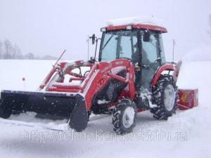 Снегопогрузчик ПФС 320 (трактор, щетка, отвал, погрузчик)