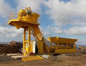 Мобильный бетонный завод МВТ-20
