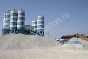 Ленточный бетонный завод HZS 180