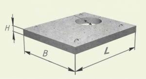 Плоские плиты перекрытия с отверстиями под мусоропровод и коммуникации
