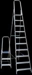 Профильная лестница-стремянка металлическая оцинкованная Sarayli