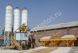 Скиповый бетонный завод HZS 25