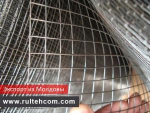 Сетка сварная оцинкованная в рулонах. Экспорт. Молдова