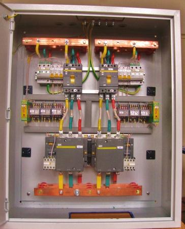 схема подключения ввода резерва от генератора 380в