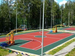 Покрытие для спортивных площадок - наливное, модульное, рулонное резиновое покрытие, брусчатка, акриловое покрытие Хард