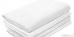 Полотенце вафельное белое 100х50
