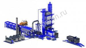 Стационарный асфальтобетонный завод LBG800 / CP60