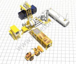 Мобильный асфальтобетонный завод QLB40