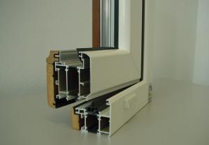Дерево-алюминиевые окна NEW TEC WOO