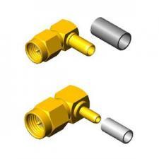 Вилки кабельные угловые серии SMA для гибкого кабеля