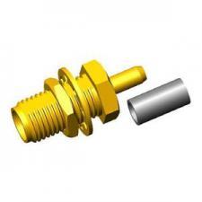 Розетки приборно-кабельные, крепление гайкой, серии SMA для гибкого кабеля