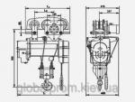 Тельфер российский канатный складской ТЭ-200 грузоподъемностью до 2 т