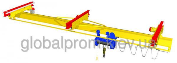 Кран-балки электрические подвесные однобалочные двухпролетные грузоподъемностью 1 т, 2 т, 3,2 т, 5 т под заказ