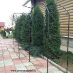 Садовая арка из металла