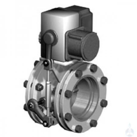 Заслонка дроссельная газовая с электроприводом для ГРП Ду-150
