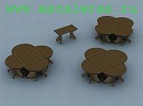 Модульный стол прямоугольный