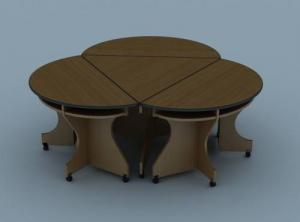 Модульный стол треугольный