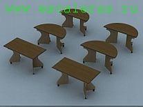 Модульный стол полукруглый