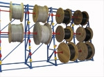 Кабельный стеллаж для хранения кабельных барабанов 2,8 м