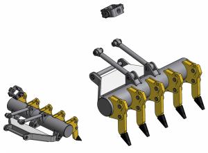 Рыхлительное оборудование переднего расположения в сборе СДМ-25А.21.01.000