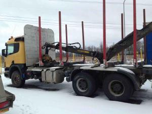 Лесовоз Scania + манипулятор + прицеп в наличии