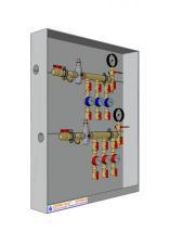 Узел распределительный для учета расхода воды модульный этажный УУВМ-Э СОТИС-Unit™