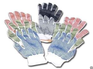 перчатки х б с пвх покрытием