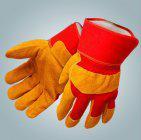 Перчатки спилковые комбинированные ВОСТОЧНЫЕ ТИГРЫ утепленные арт.Пер602