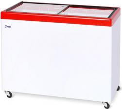 Морозильный ларь с прозрачной стеклянной крышкой СНЕЖ МЛП 350