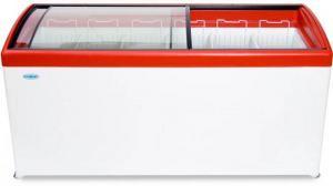 Морозильный ларь с прозрачной стеклянной крышкой СНЕЖ МЛП 400