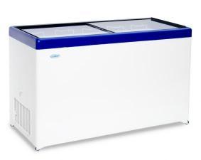 Морозильный ларь с прозрачной стеклянной крышкой СНЕЖ МЛП 500