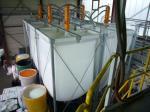 Комплект оборудования для хранения, растарки мешков и загрузки материала (гранул полимеров) в гибкий тканевый силос