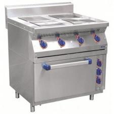 Плита эл. 4-х конфор.ЭП-4ЖШ стандартная духовка 1050x897x860 мм. /лицев. нерж/