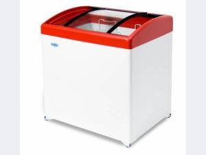 Морозильный ларь МЛГ-350 с гнутым стеклом