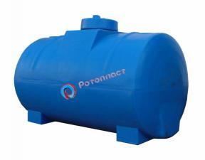 Емкость (бочка) пластиковая горизонтальная 300 литров