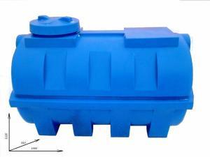Емкость (бочка) пластиковая горизонтальная 1000 литров