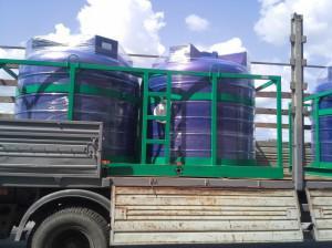 Емкости «Кассета 5000х2 S» перевозки воды и технологических растворов.