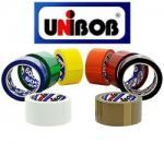 Клейкая лента упаковочная 48 мм х 66 м UNIBOB 600 черный