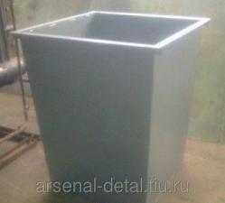 Корзина металлическая для твердых бытовых отходов