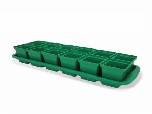 """Набор пластиковый для рассады """" Урожай-МИНИ 12"""" 12 стаканчиков для томатов"""