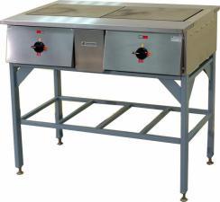 Плита электрическая ПЭ-0.24Н двухконфорочная без жарочного шкафа