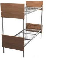Кровати металлические со спинками ДСП, кровати для общежития и студентов, кровати металлические для гостиницы и хостела.
