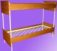 Металлические кровати с боковинами и царгами ДСП, кровати металлические с ДСП