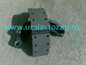 Колодка тормозная (под однополосный цилиндр) Урал-4320 55571Х-3501090