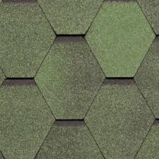 Черепица гибкая Tegola Нордленд Нордик Зеленый с отливом