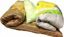 Постельный набор ( матрас, подушка,одеяло и КПБ) для строителей и рабочих, постельное белье в бытовки и времянки