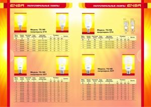 Энергосберегающие лампы ENSA