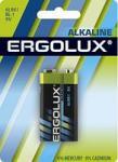 Ergolux 6LR61 Alkaline BL-1 (батарейка,9В)