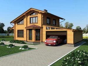 Комплект дома из клеенного бруса