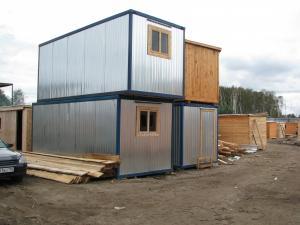 Блок-контейнер(строительная бытовка) с электрикой